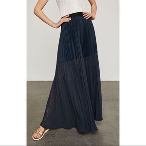 BCBGMAXAZRIA Tisa Pleated Maxi Skirt- BLACK